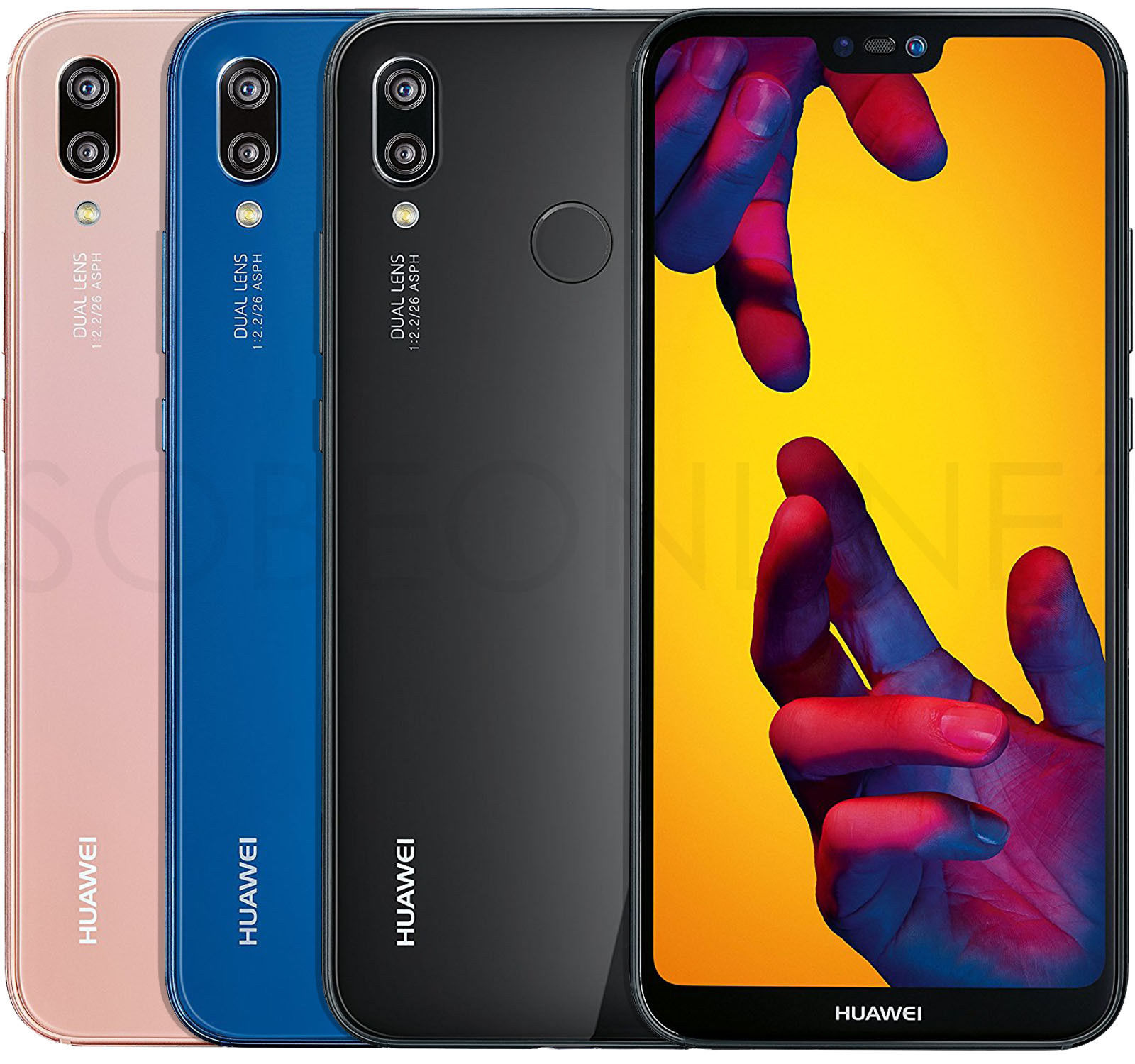Details About Huawei P20 Lite 32gb 4gb Dualsim Factory Unlocked 5 8 Black Blue Pink